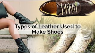 Types of Leather Used to Make Shoes