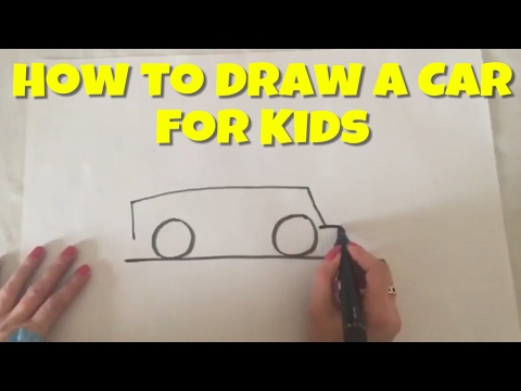 How to Draw a Car for Kids | Painting | Learning colours