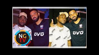 Davido poses for picture with Drake at wireless festival (Photos)