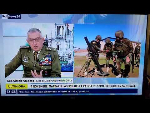 #4Novembre_Rai News, intervista al Generale Claudio Graziano Capo di Stato Maggiore della Difesa