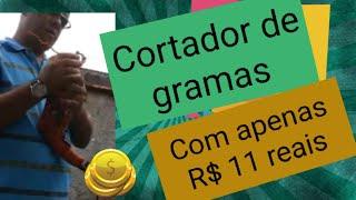 Cortador de grama artesanal com apenas R$ 11,00 reais usando sua furadeira