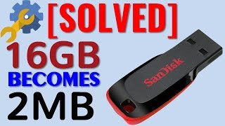 How to Fix Pen Drive 16GB Becomes 2.28MB [SOLVED] Restore Pen Drive Capacity