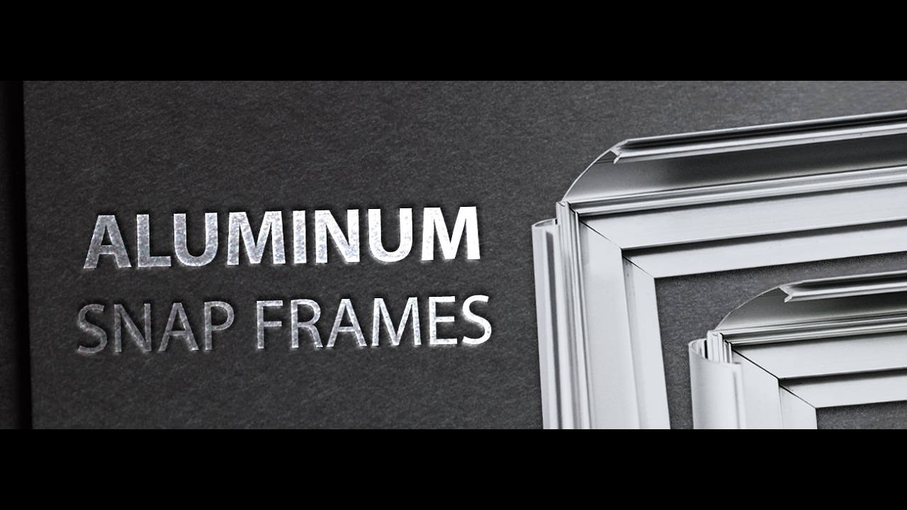 Custom Aluminum Snap Frames - Instructions - YouTube