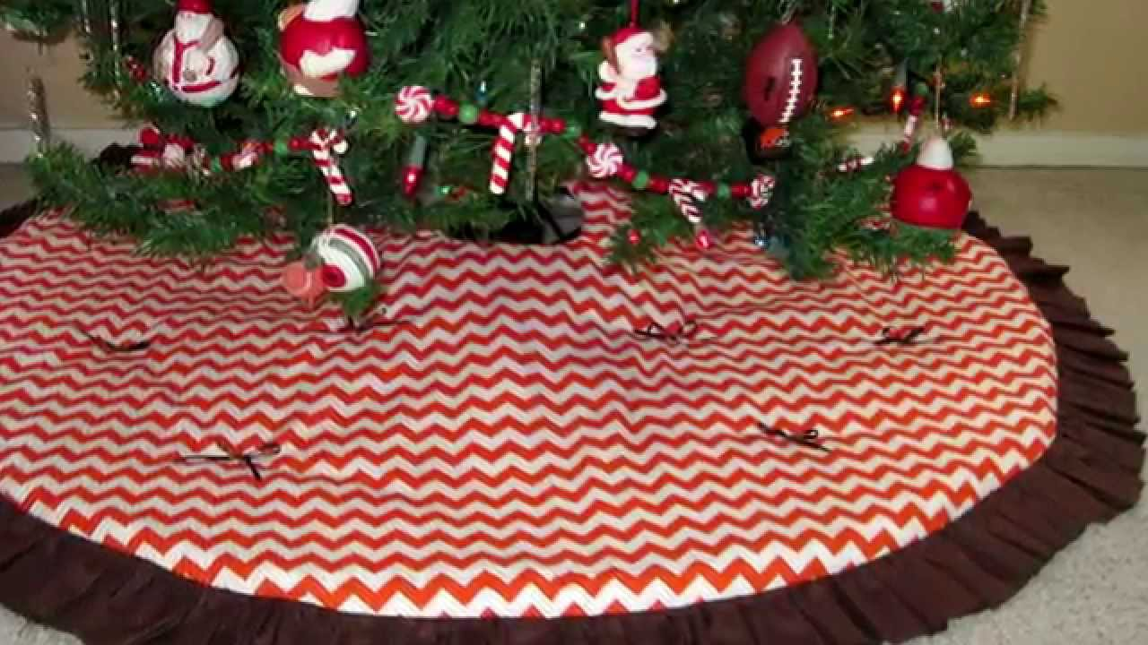Chevron, Football Christmas Tree Skirts - YouTube