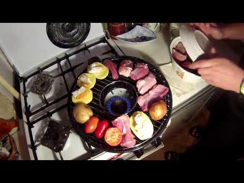 Как пользоваться сковородой гриль газ видео