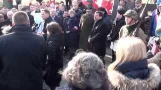 Wystąpienie A.Dudy przy symbolicznym grobie D.Siedzikówny