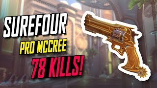 WHEN SUREFOUR SOLO CARRY MCCREE! 78 KILLS! 26K DMG! [ OVERWATCH TOP 500 SEASON 5 ]