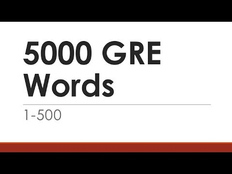 5000 GRE Words 1-500 | English Words With Meaning