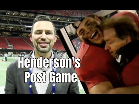 Alabama Crimson Tide Football Kyle Henderson Recaps Alabamas 35 28 Win Over Georgia