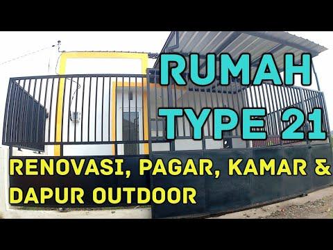 Rumah Minimalis Type 21 Renovasi Tambahan Kamar Dapur Outdoor