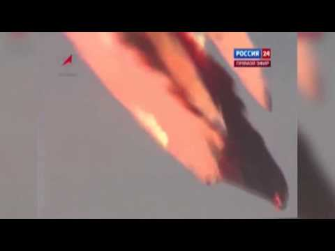 Raw: Russian Rocket Crashes After Launch