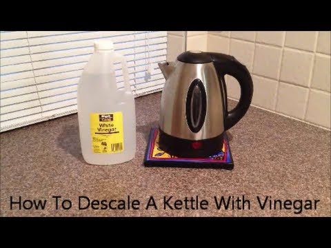 How To Descale A Kettle With Vinegar Youtube