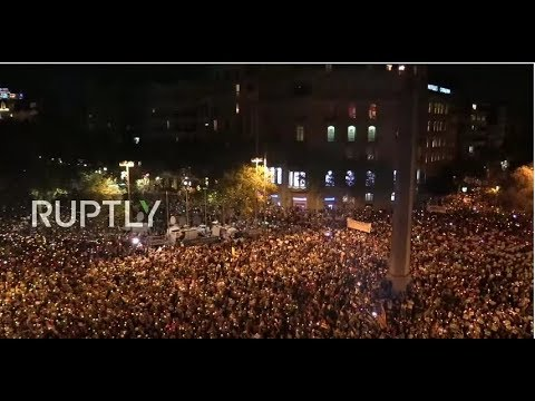 LIVE: Catalans rally in solidarity with jailed leaders