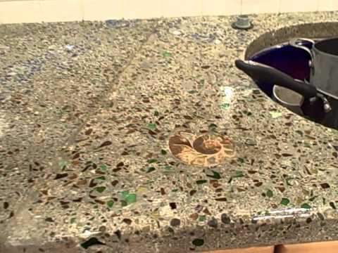 Beer Bottle Glass Concrete Counter Tops Youtube