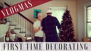 Vlogmas | First Christmas Decorating With The Hubs