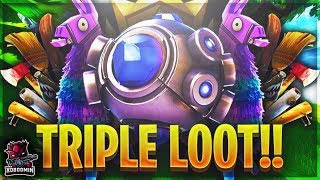*NEW* SHOCKWAVE GRENADE + LLAMA GIVES YOU TRIPLE THE LOOT (FORTNITE BATTLE ROYALE)