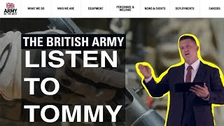 Message re Tommy Robinson for senior commanders UK military up to Mark Carleton-Smith & Theresa May