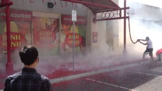 Fireworks GONE WRONG ! - See the fire and smoke at the end - Happy Lunar New Year