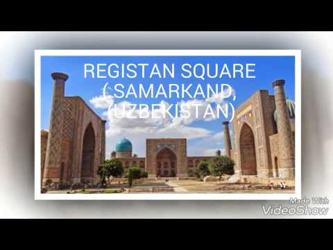 Who love travel watch this video.Virtual guide. (Registan square, Samarkand, Uzbekistan)