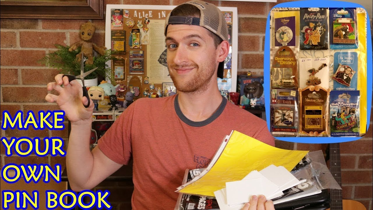 Diy Disney Pin Book Make Your Own Pin Book Cheap Easy Youtube