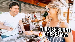 We Tried Turkish Burnt Ice Cream | Fethiye & Kas