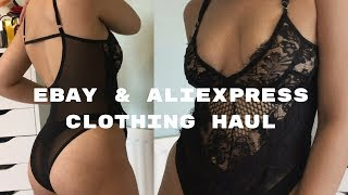 EBAY AND ALIEXPRESS CLOTHING FASHION HAUL!