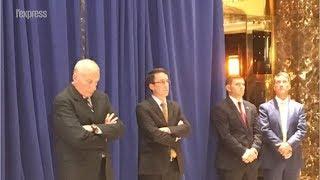Charlottesville: le malaise de l'équipe de Trump pendant son allocution