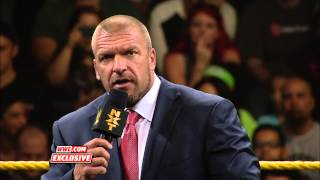 WWE COO Triple H announces a NXT Takeover special: WWE.com Exclusive, Aug. 1, 2014