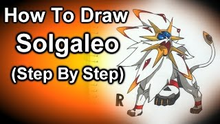 How To Draw Solgaleo Step By Step