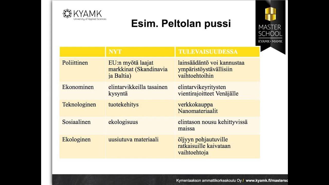 Pestel Analyysi