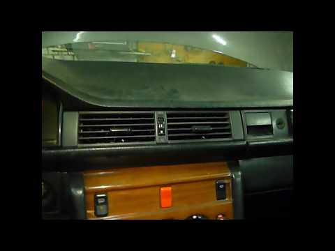 W124. Ремонт центрального дефлектора и почему дует холодный воздух.