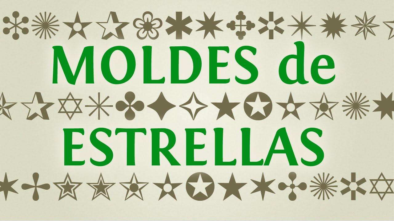 Moldes De Estrellas Para Imprimir Y Recortar Diseños De Estrellas