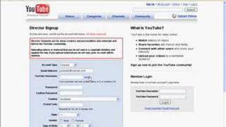 How to sign up an account with youtube