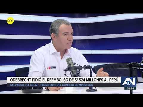 Del Solar se pronuncia sobre pedido de Odebrecht al Perú para devolución de S/ 524 millones