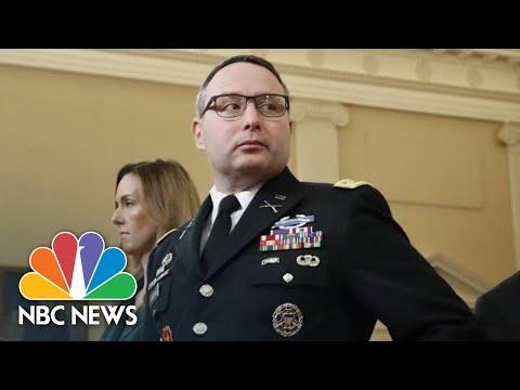 Vindman Defends Wearing Military Uniform After Attacks 'Marginalized' Him | NBC News