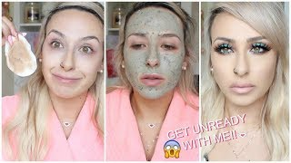 GET UNREADY WITH ME! My skincare routine for clear skin (oily)   DramaticMAC