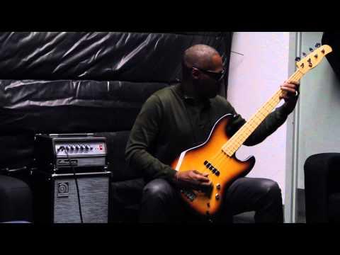 Armand Sabal-Lecco w/ a Berndt XSP Prototype Bass at NAMM 2014