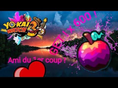 600 QR CODE de FRUITS DÉFENDU de YOKAI WATCH 3 ! (FR ...