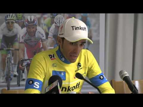 Rueda de prensa de Alberto Contador ( Tinkoff ) vencedor Vuelta al Pais Vasco 2016 / Itzulia 2016.