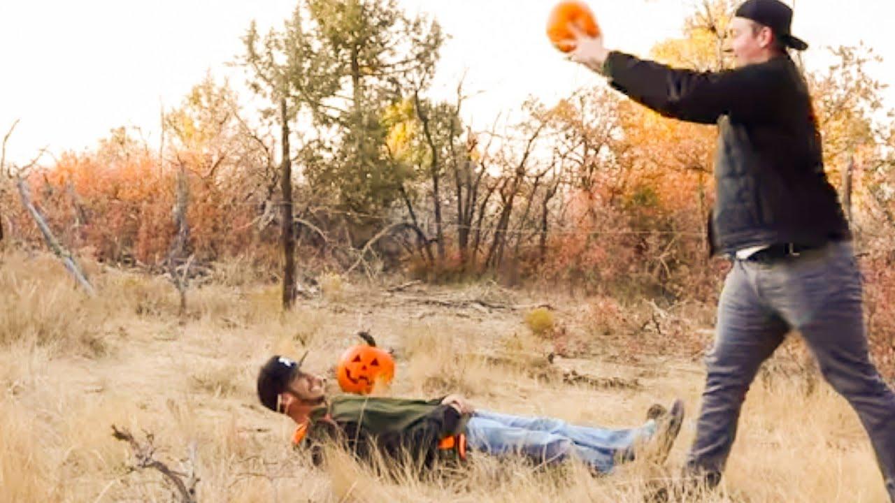 We smashed pumpkins.. On ourselves.