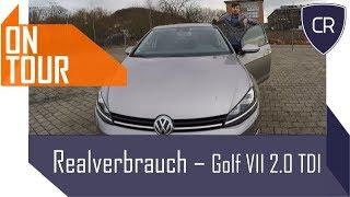 CarRanger OnTour - Realverbrauch Test VW Golf VII 2.0TDI