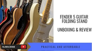Fender 5 Guitar Folding Stand Unboxing & Review