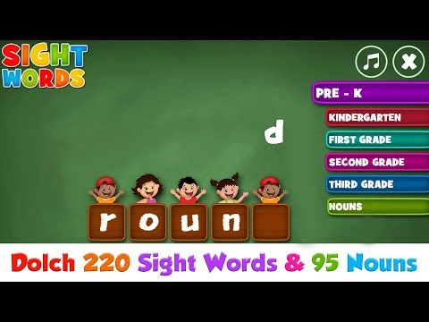 Meet The Sight Words Collection - Pre K To Grade 3 - Dolch Words Video