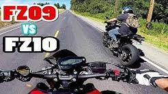 Fz09 Vs  Fz10 HIGHWAY RACE! | Fz10 TOP SPEED!!!