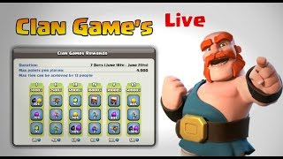 Coc India || Clan games ( let