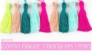 Hoy aprendemos a hacer borlas en menos de 1 minuto. Estos son los materiales que necesitas: ♥ hilo o lana que vayamos a utilizar para hacer la borla ...