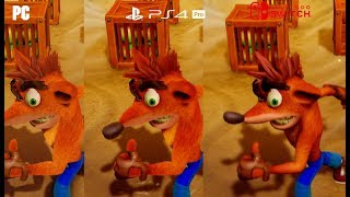 [4K] Crash Bandicoot – PC Max vs PS4 Pro vs Nintendo Switch Graphics Comparison Gameplay