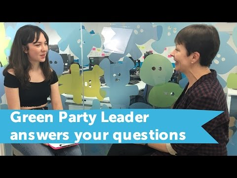 Green Party co-leader Caroline Lucas speaks to student youth on TSR!