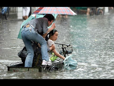 Floods in Yulin, Shaanxi China,