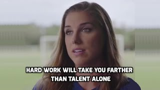 "USWNT - Alex Morgan: The Kicks ""Hard Work Takes You Farther Than Talent Alone"" - August 31, 2016"